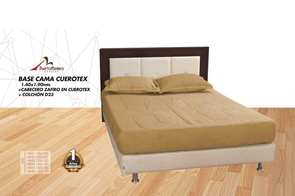 Base Cama Cuerotex Cabecero Zafiro